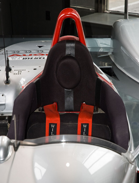 Driver's seat and roll hoop.