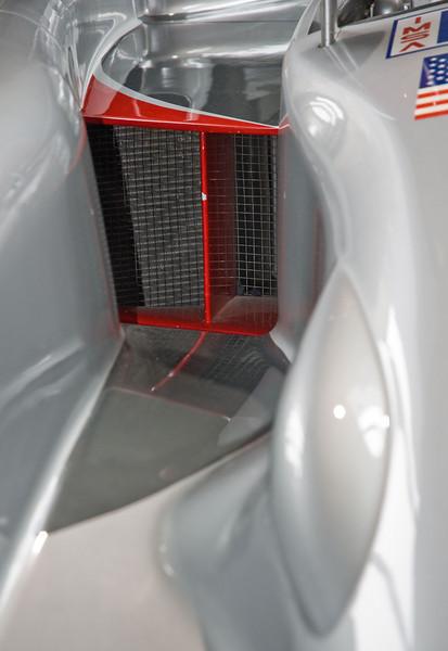 Passenger side cooling intake.