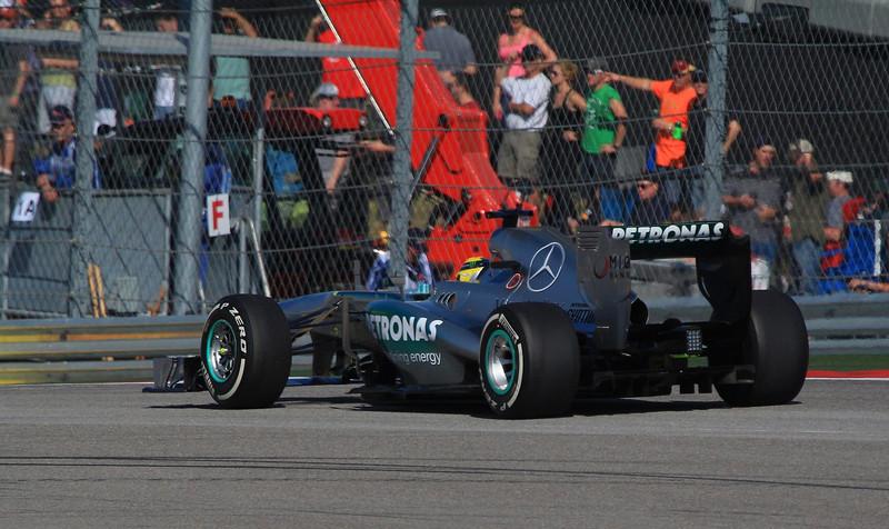 Nico Rosberg in his McClaren Mercedes.