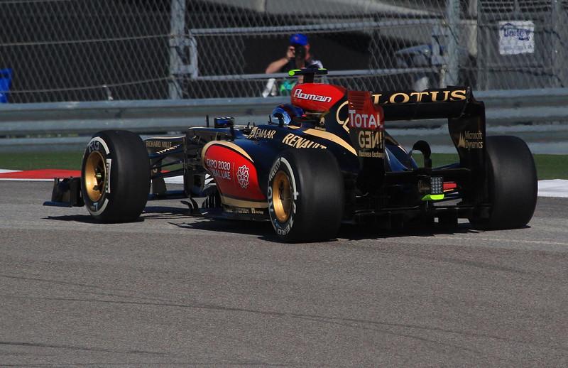Romain Grosjean in turn one.