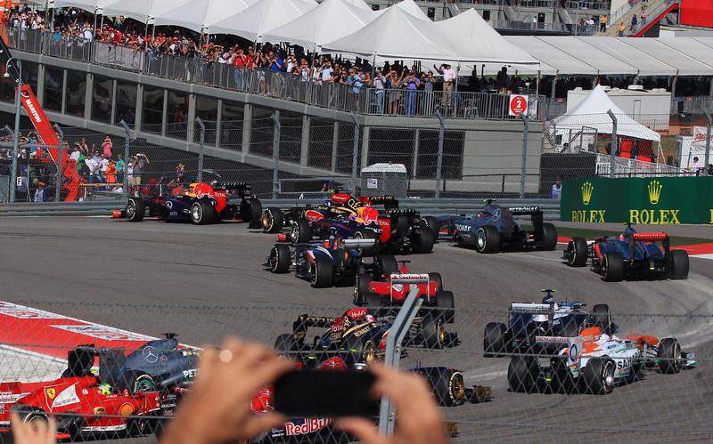 Race start in turn one.