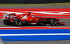 The Ferrari of Fernando Alonso at the Austin, Texas U.S. Grand Prix.
