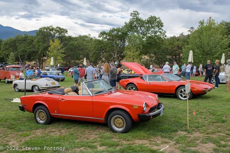 1978 Fiat 124 Sport Spider, 1972 DeTomaso Pantera
