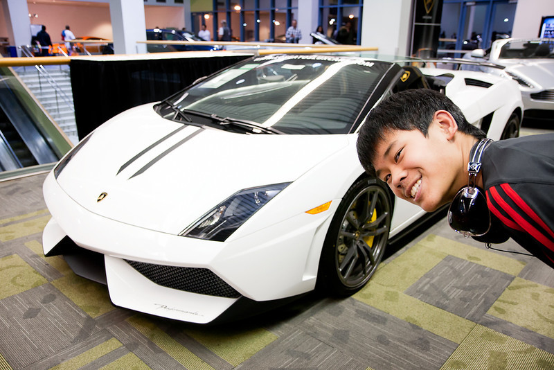 This is about as close as Andrew will get to owning this Lamborghini!