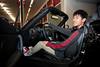 Andrew inside a Mazda MX5-Miata.