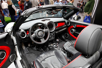 The world premiere of the 2-seat MINI Roadster, as seen equipped with the John Cooper Works package.