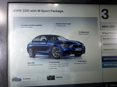 Details of the M Sport Package.