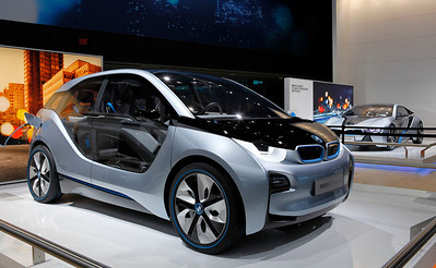 The BMW i3 electric city car concept.