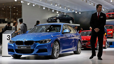 This new BMW 335i displays a prototype of the M-sport package.