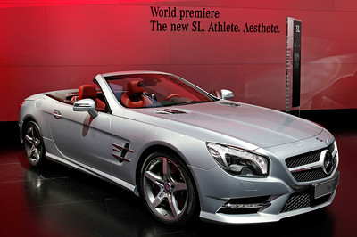 The world premiere of the Mercedes Benz new SL.