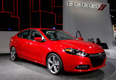 The 2013 Dodge Dart is built on the Alfa Romeo Giulietta, a front-drive platform with a choice of three 4-bangers. The top engine is a 184-hp 2.4 liter, which may be paired with a stick.