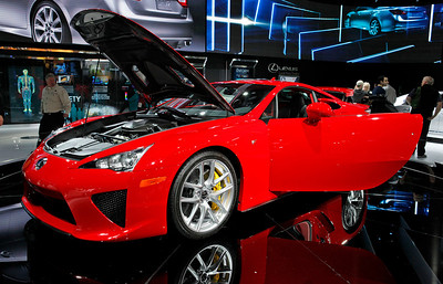 The Lexus LFA sports car, a $300,000-plus exotic.