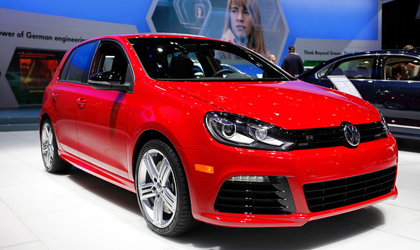 "The VW Golf R was the biggest ""sleeper"" at the show, sporting a 2-liter turbo engine producing 256 hp on an all-wheel drive four door platform. This Golf makes more power than a BMW e36 M3."