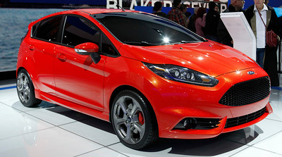The Ford Fiesta ST concept. Note the cross drilled rotors and painted brake calipers.