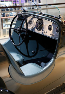 The cockpit of Edsel Ford's 1934 Model 40 Special Speedster. Purchased for $1,000 before restoration, it reportedly sold for $1.6 million.