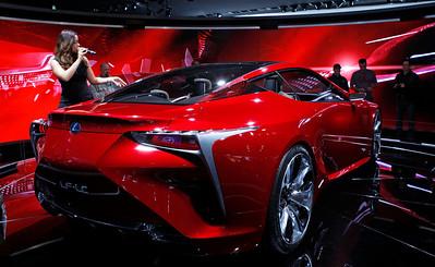 The Lexus LF-LC concept sports car.