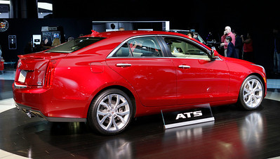 The Cadillac ATS, a supposed 3 series fighter, sports a rear-wheel drive platform and three engine choices. The turbo 2-liter includes a manual transmission option. A V-series tuned edition is expected within a year or two.