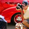 "Joe Farace at the annual ""Hot Times, Cool Cars"" car show in Arvada , CO (photo: Mary Farace)"