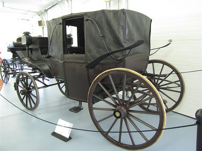 C.P. Kimball & Co Landau (c. 1890, Chicago, IL). This coach is very original, right down to its tires and canopy.