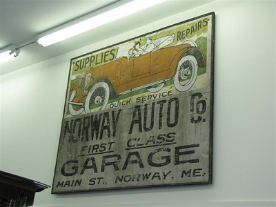 Bahre Auto Collection. A vintage sign for a local service station (nice touch!).