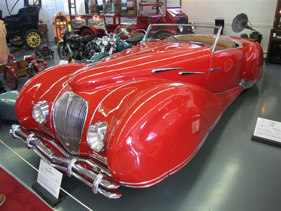 Delahaye 135 M Figoni & Falaschi roadster. This is a very special car - one of five ever built in this distinctive design. The Delahaye chassis is based on a racing design but with the extravagent French body and a Hermes interior. A similar car sold in August, 2010 for $3.3 million.