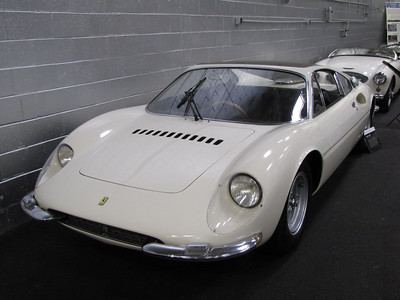 ANNEX. Ferrari 365P. This is one of three 3-seater cars built by Pininfarina and based on P2 and P3/4 chassis and drivetrain components. The 3-seat layout puts the driver in the center, a precursor to the McLaren F1. This car is owned by Luigi Chinetti Jr.