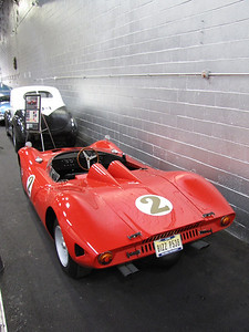 ANNEX. Bizzarrini P538. This car is known as the company's second race chassis, built but not completed for the 1967 24 Hours or Le Mans. Bizzarrini's relationship with Lamborghini gave him access to parts and engines. This car uses a 3.5-liter Lamborghini race engine. When Bizzarrini went out of business in 1970 this car disappeared but then re-appeared a few years later thanks to Bizzarrini's efforts and it's now shown at concours and vintage race events.