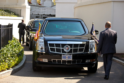 President's Car parked at the White House