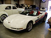 "LotNumber 385               SOLD $58,000<br /> Year 2004 <br /> CarMake CHEVROLET <br /> CarModel CORVETTE <br /> CarStyle 88TH INDY 500 OFFICIAL PACE CAR <br /> ExteriorColor WHITE/BLUE TWO-TONE <br /> Interiorcolor   <br /> Cylinders   <br /> Engine   <br /> Transmission   <br /> Summary   <br /> Description Official pace car for the 88th Indianapolis 500. May 30, 2004 - For a record sixth time, Corvette ""Raced the Pack"" at the INDY 500 Race. This also marked the third consecutive year and the 15th time overall that a Chevrolet product has served as the official vehicle - the most appearance of any brand. The pace car was driven by actor Morgan Freeman. Features and specifications: Distinctive ""American"" White and blue two tone paint scheme and specific INDY 500 graphics. Few modifications were made to the Corvette to ready it for pace car duties including heavy duty transmission and power steering coolers, lower restriction exhaust system, two-point racing-type safety belts and safety strobe light system. GM AND BARRETT-JACKSON MAKE NO WARRANTY OR REPRESENTATION OF ANY KIND, EXPRESSED OR IMPLIED, CONCERNING THE VEHICLE (INCLUDING NO WARRANTY OF MERCHANTABILITY OR FITNESS FOR A PARTICULAR PURPOSE)."