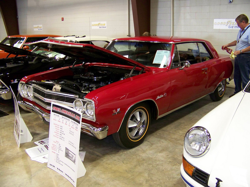 LotNumber 660         SOLD $177,000<br /> Year 1965 <br /> CarMake CHEVROLET <br /> CarModel CHEVELLE Z16 <br /> CarStyle 2 DOOR HARDTOP <br /> ExteriorColor RED <br /> Interiorcolor BLACK <br /> Cylinders 8 <br /> Engine 396 <br /> Transmission 4-SPEED MANUAL <br /> Summary A real 1965 Z16 and 1 of 201 built. Previously owned by Dave Miner, founder of the Z16 Registry. Frame-off restoration just completed. 396cid/375hp engine with a 4-speed and 55,329 actual miles. <br /> Description Only 201 built. Frame-off restoration just completed. 55,329 actual miles. 396cid/375hp engine with a 4-speed, AM/FM stereo, power steering, power brakes, simulated wood steering wheel, padded dash, convenience and comfort package, 2-speed wiper, remote mirror, inside day/night mirror, deluxe front/rear seat belts, simulated mag wheel covers, 160mph speedometer and in original red color with black interior. Previously owned by Dave Miner, founder of the Z16 Registry.