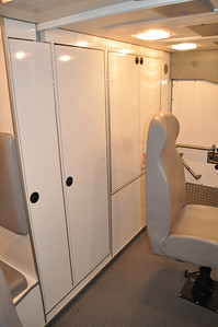 This is storage area located on the passenger side of the main work area.