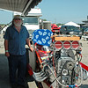 "Mountain Mike and his front engine ""ALKY Powered"" dragster."