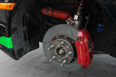 Front brakes are 5% larger in diameter than stock. BGB uses Cobalt pads.