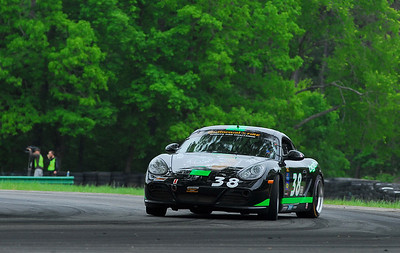 The Cayman S was a bit of a handful to drive in the first half of the season, as Steve Jenkins demonstrates at VIR.