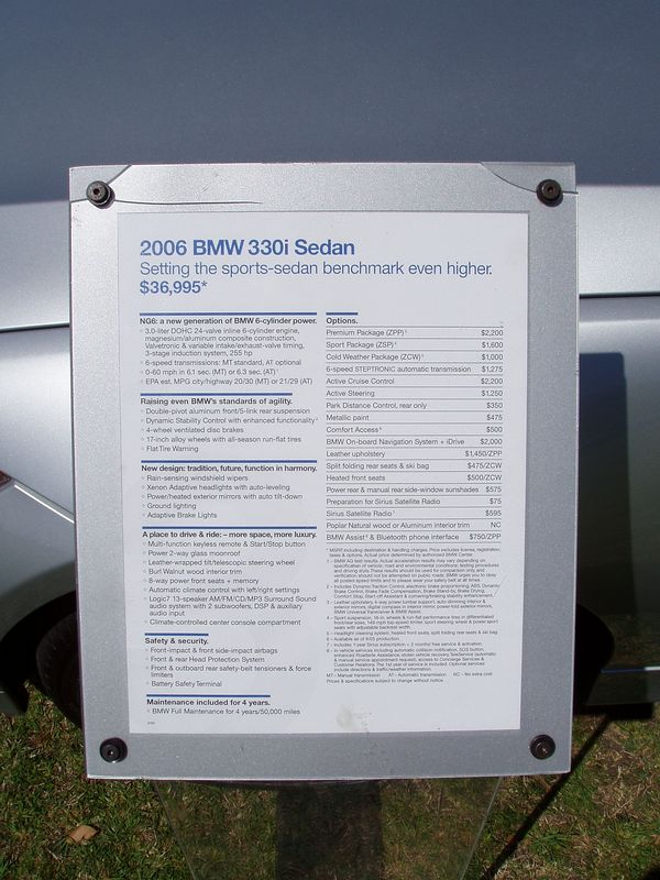 2006 3-series Info/Pricing