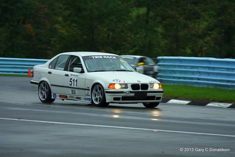 BMW CCA Club Racing, Watkins Glen International, Saturday sprint, 21-Sep-2013; Bus stop