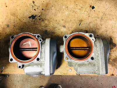 330i throttle body and 325i throttle body comparison.