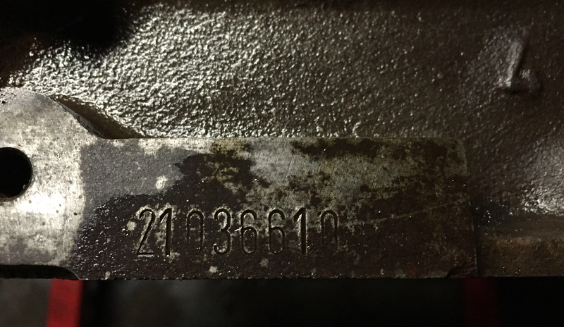 "I thought this would be the M20 engine block ID stamp but the format isn't even close to what the official code should look like  <a href=""http://www.turnermotorsport.com/t-BMW-Engine-Codes.aspx"">http://www.turnermotorsport.com/t-BMW-Engine-Codes.aspx</a>)"