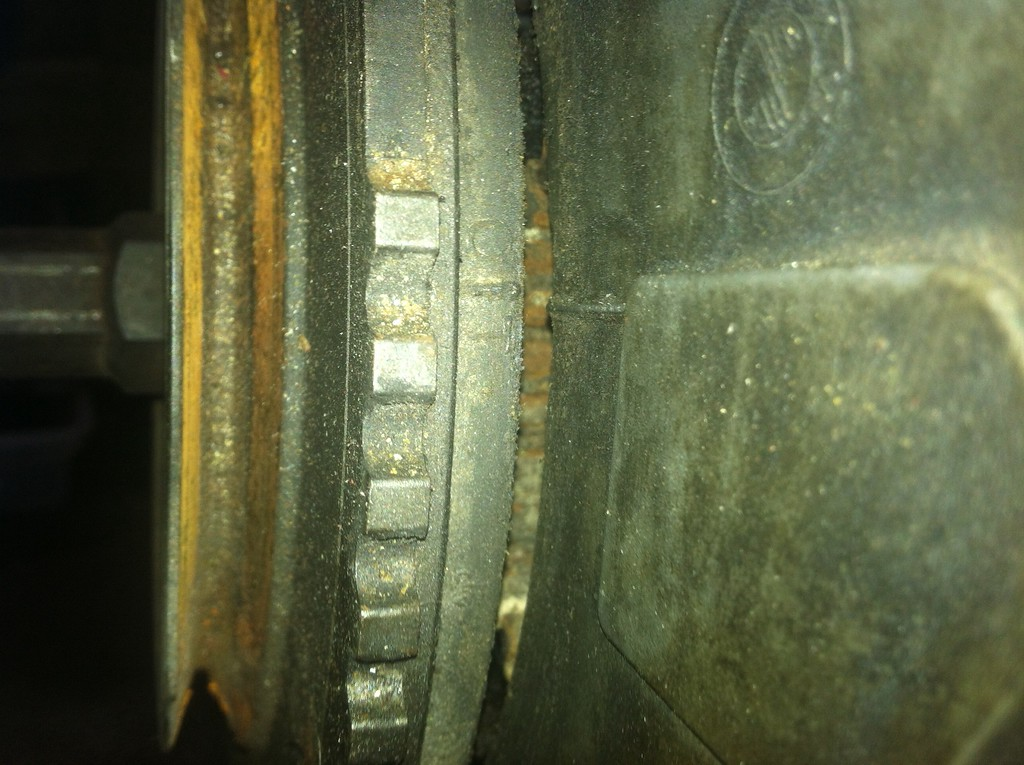 crankshaft aligned on TDC mark
