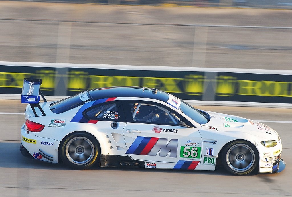 #56 M3 won the GT class at the Twelve Hours of Sebring, which was the opening round of the 2011 ALMS.