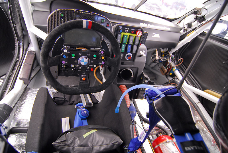 Biggest change in the cockpit for 2011 is the addition of paddle shifters on the wheel, which is now allowed in the GT rules.