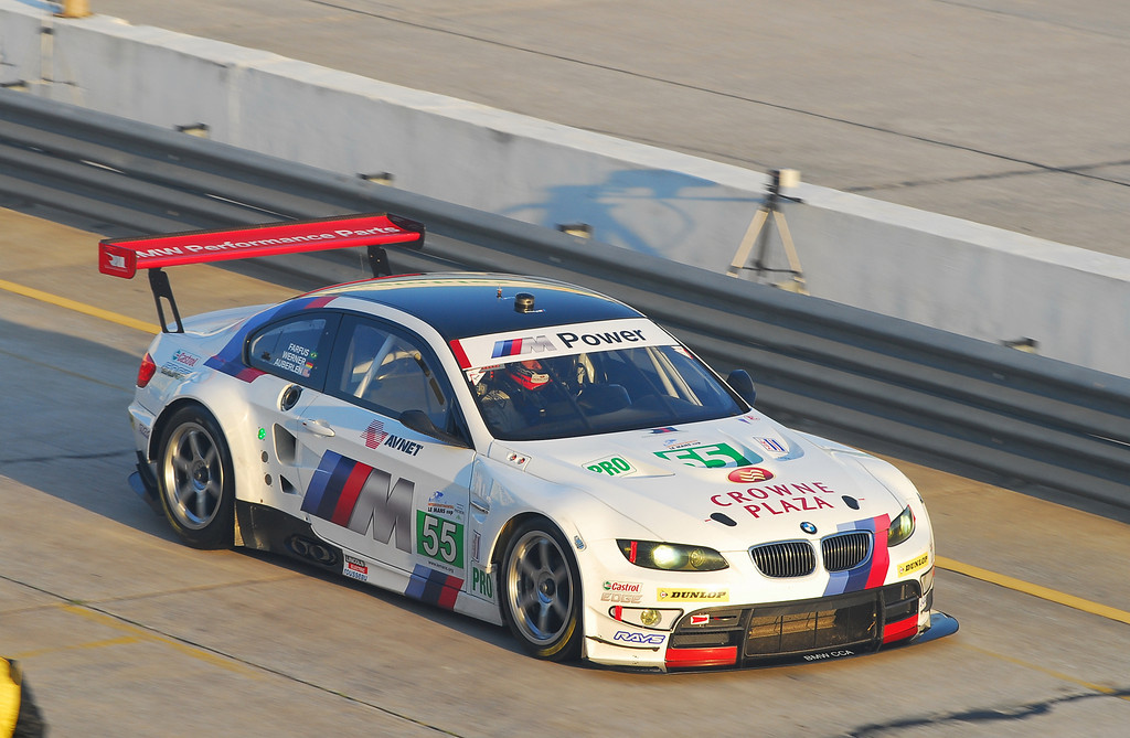 #55 M3 finished second in the GT class at the Twelve Hours of Sebring, which was the opening round of the 2011 ALMS.
