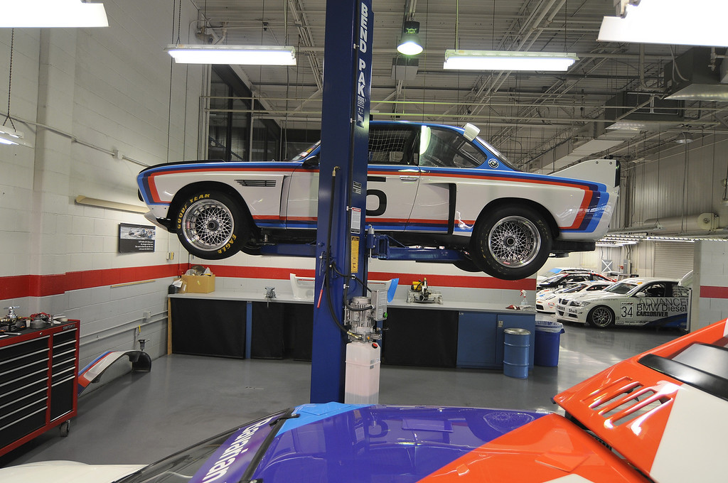 1975 3.5 CSL on the lift.