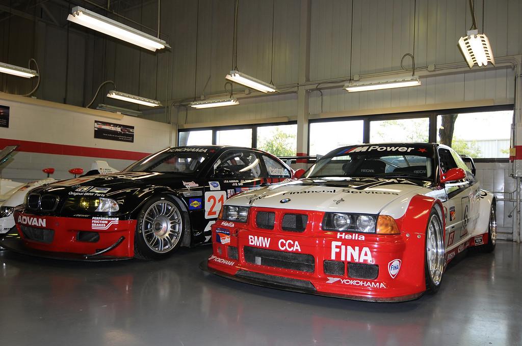 2001 M3 GTR (left), 1996 M3 GT3 (right)