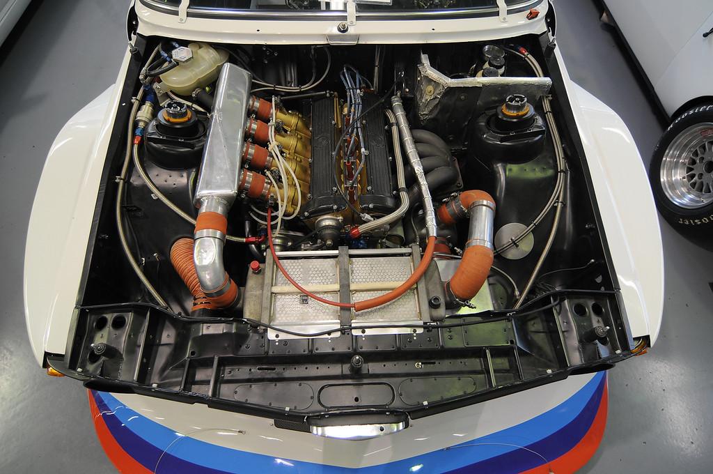 Engine bay of 1977 320 Turbo