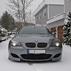 BMW M5 in snow