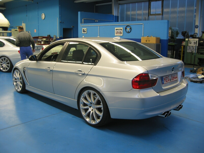 "E90 Hartge H50, E90 sedan with 5.0 liter S85 V10 engine, big brakes, coil overs, and 21"" wheels"
