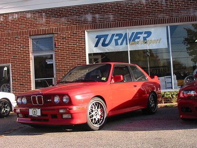 E30 M3. aka Psycho Red... this car has it all. A TMS-built 2.5-liter S14 with MoTeC engine management, H&R/Bilstein suspension, BBS wheels, Brembo front brakes, and about $20,000 in custom stereo equipment.