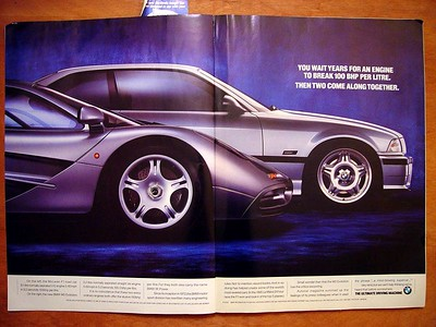 BMW ad -- McLaren F1 and BMW M3 (E36 Euro)