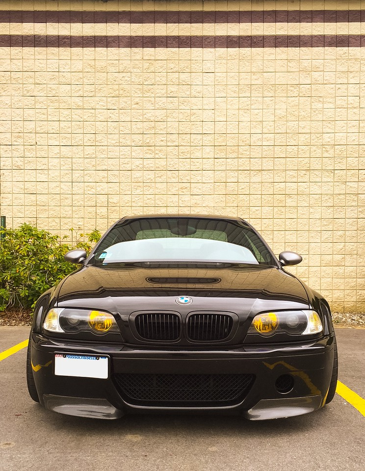 E46 M3 CSL replica front bumper, APEX ARC-8 whels, StopTech brakes. I love the look of this car.